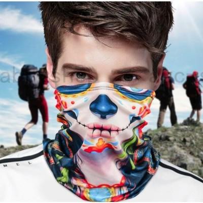 夏フェイスマスク フェイスカバー  ネックカバー フェイスガード  UVカット 日焼け防止 紫外線防止 吸汗速乾 呼吸しやすい 多機能 男女兼用 水洗い可能