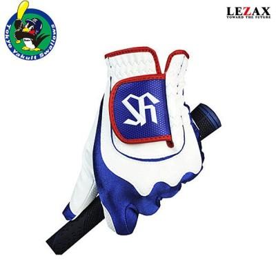 LEZAX -レザックス- 東京ヤクルトスワローズ ゴルフ手袋 フリーサイズ 左手用 ホワイト×ブルー 【YSGL-7658】