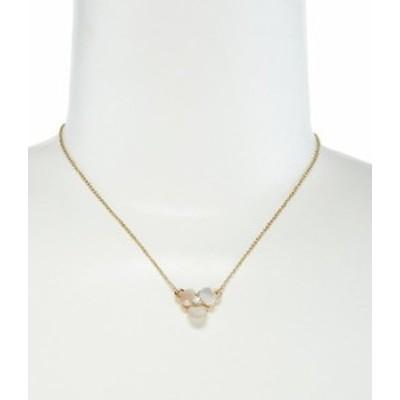 ケイトスペード レディース ネックレス・チョーカー アクセサリー Disco Pansy Mother-of-Pearl Mini Pendant Necklace Cream/Clear