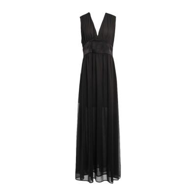 NINEMINUTES ロングワンピース&ドレス ブラック 40 ポリエステル 100% ロングワンピース&ドレス