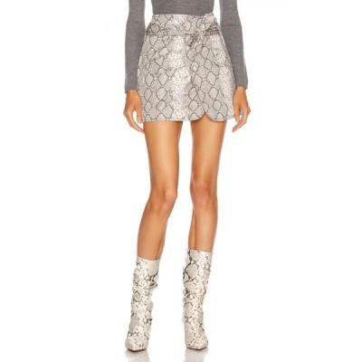マリッサ ウェッブ Marissa Webb レディース ミニスカート スカート katrina print canvas skirt White Python