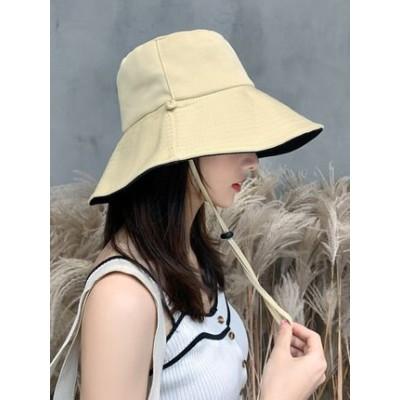 帽子 レディース 春 夏 uv 折りたたみ 大きいサイズ つば広 ひも UVカット帽子 100% 撥水 紐 あご紐 風で飛ばない 自転車 おしゃれ ハット レディース帽 両面用帽子