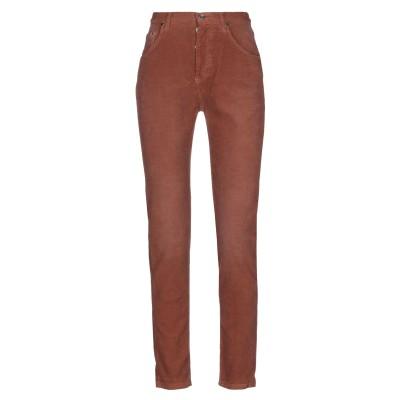 パオロ ペコラ PAOLO PECORA パンツ 赤茶色 27 コットン 97% / ポリウレタン 3% パンツ