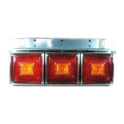 [お取寄せ] JB 角型<改>3連大型テールランプ L/R [赤・赤・赤(ウィンカーリレー付) ] ※DC24V専用 [9241333]