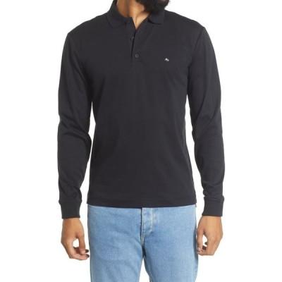 ラグ&ボーン RAG & BONE メンズ ポロシャツ トップス Interlock Long Sleeve Polo Shirt Black