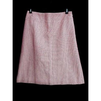 【中古】オリゾンティ ORIZZONTI glace a la vanille スカート ひざ丈 台形 40 赤 レッド /AAO レディース