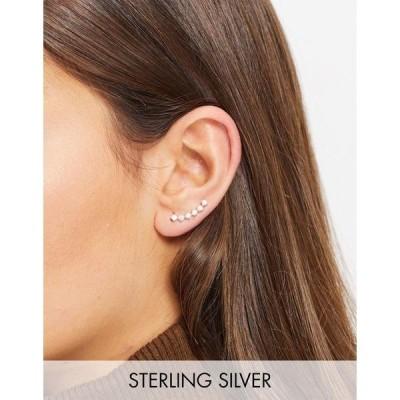 エイソス レディース ピアス&イヤリング アクセサリー ASOS DESIGN sterling silver single ear climber with crystals Silver