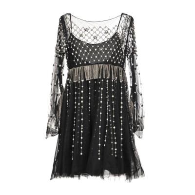WANDERING ミニワンピース&ドレス ブラック 40 100% ナイロン ミニワンピース&ドレス