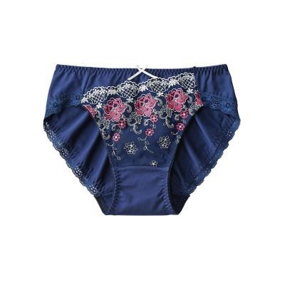 やや深ばき丈ストレッチペアショーツ(ガーデンフラワー)(L) スタンダードショーツ, Panties