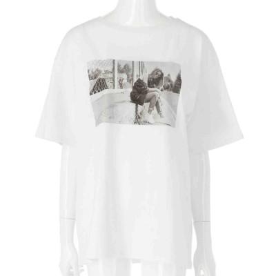 ANAP フォト×バックプリントビッグTシャツ(ホワイト)