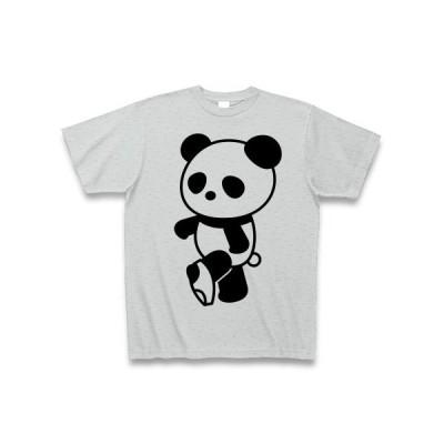 パンツとパンダ Tシャツ(グレー)