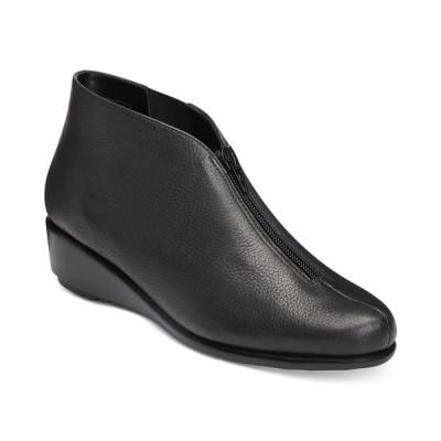 エアロソールズ ブーツ&レインブーツ シューズ レディース Allowance Booties Black Leather