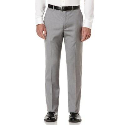 ペリーエリス メンズ カジュアルパンツ ボトムス Big & Tall Herringbone Suit Separates Flat Front Pants Brushed Nickel