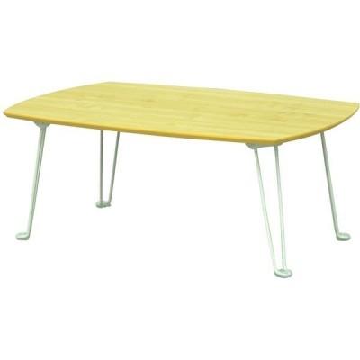 エイ・アイ・エスエイ・アイ・エス メラミン木目調テーブル ナチュラル 幅750×奥行500×高さ305mm SRMM-5NA NA 1台(直送品)