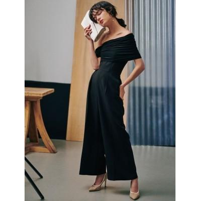 【ラグナムーン】 LADYエスパンディラップパンツドレス レディース ブラック M LAGUNAMOON
