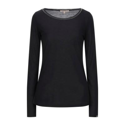 パトリツィア ペペ PATRIZIA PEPE T シャツ ブラック 0 ポリエステル 100% T シャツ