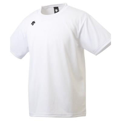 DESCENTE 【吸汗速乾】ワンポイントハーフスリーブシャツ(ホワイト系)