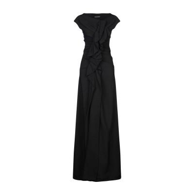 プレイン・スッド PLEIN SUD ロングワンピース&ドレス ブラック 40 レーヨン 96% / ポリウレタン 4% ロングワンピース&ドレス