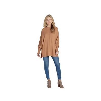 Mud Pie Women's Long Sleeve, Camel, One Size並行輸入品 送料無料
