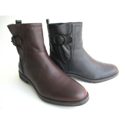 イング ING ing 1183 レディース 天然皮革 カジュアルショートブーツ ウラットヒール ラウンドトゥ 防寒靴 通勤靴