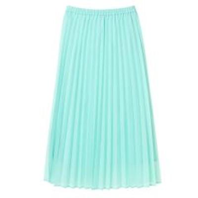 グリーンパークスオーガンジーカラープリーツスカート