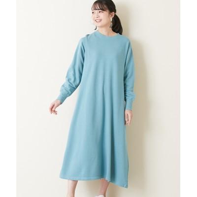 【earth music&ecology】・裏毛ロングワンピース (ワンピース)Dress