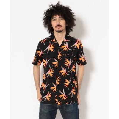 """(RAWLIFE/ロウライフ)Aloha Blossom/アロハ ブロッサム/""""BIRDS OF PARADISE""""/メンズ BLACK"""