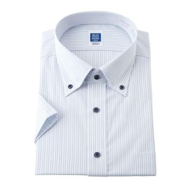 Designed by PERSON'S形態安定半袖デザインワイシャツ(ボタンダウン) (ワイシャツ)Shirts, テレワーク, 在宅, リモート