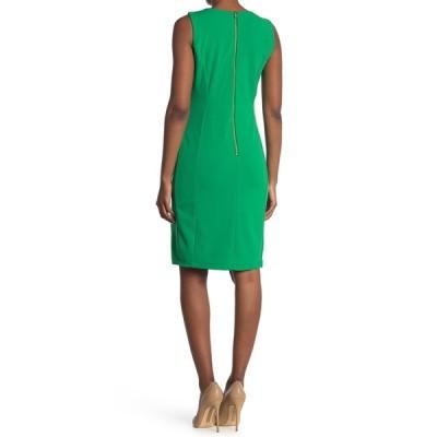 マリーナ レディース ワンピース トップス Sleeveless Sheath Dress GREEN