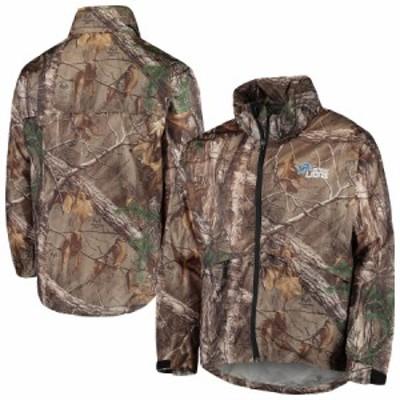 """メンズ ジャケット """"Detroit Lions"""" Sportsman Waterproof Packable Full-Zip Jacket - Realtree Camo"""