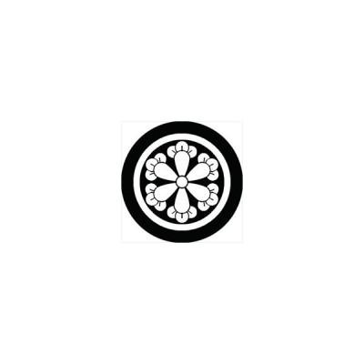 家紋シール 丸に六つ丁子紋 直径4cm 丸型 白紋 4枚セット KS44M-0827W