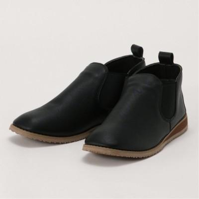 柔らかサイドゴアブーツ ブラック S M L LL