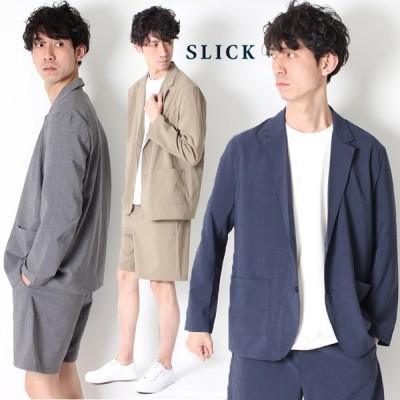 【10%OFF】SLICK EVALET Thick&Thin Tailored Jacket シックアンドシン テーラードジャケット 5169406 メンズ セットアップ 吸汗速乾 高機能素材