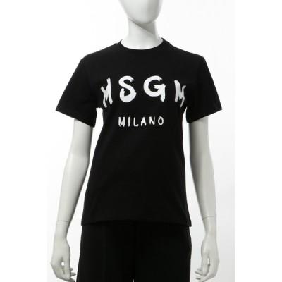 エムエスジーエム MSGM Tシャツ 半袖 丸首 クルーネック レディース 2841MDM60207298 ブラック 2020年春夏新作