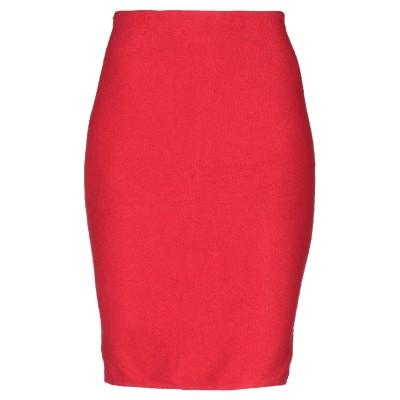 マニラ グレース MANILA GRACE ひざ丈スカート レッド 42 コットン 100% ひざ丈スカート
