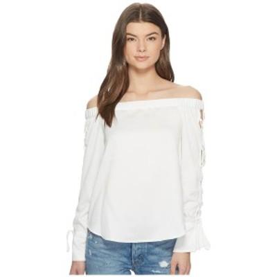 ワンステイト レディース シャツ トップス Off Shoulder Blouse w/ Lace-Up Sleeves New Ivory