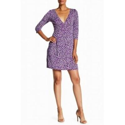 ファッション ドレス Vertigo NEW Purple Womens Size Large L Dot Printed Sheath Dress