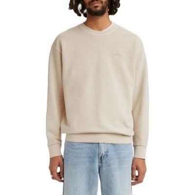 リーバイス LEVI'S メンズ スウェット・トレーナー トップス Levi's Relaxed Crewneck Sweatshirt Pumice Strone Garment Dye