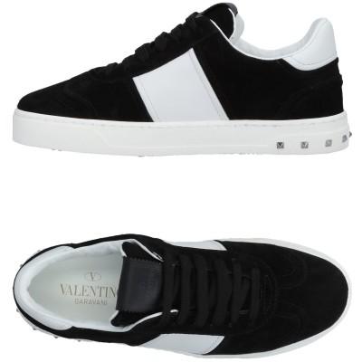 VALENTINO GARAVANI スニーカー&テニスシューズ(ローカット) ブラック 41 革 スニーカー&テニスシューズ(ローカット)