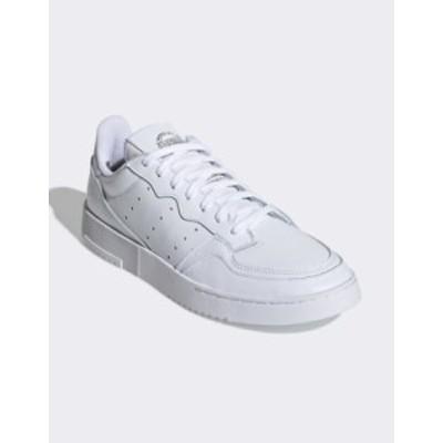 アディダス レディース スニーカー シューズ Adidas Originals Supercourt sneakers in white White