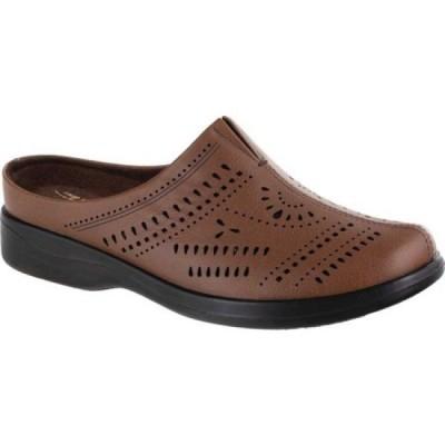 イージーストリート Easy Street レディース サンダル・ミュール シューズ・靴 Kay Perforated Mule Dark Tan Synthetic