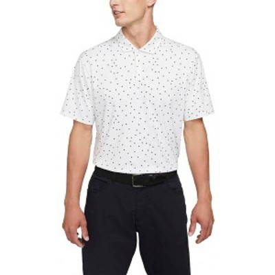 ナイキ メンズ シャツ トップス Nike Men's Dri-FIT Vapor Printed Golf Polo White