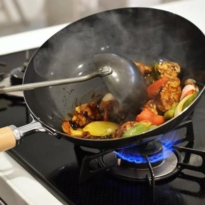 和平フレイズ フライパン 野菜炒め 中華料理 炒め鍋 厳選素材 28cm 黒皮鉄 日本製 GR-9749