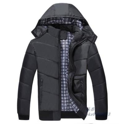 ジャケット 中綿ジャケット ブルゾン ダウン綿 防寒 フード着脱可 中綿入り フード暖かい ダウンジャケット アウター ウェア アウトドア メンズ