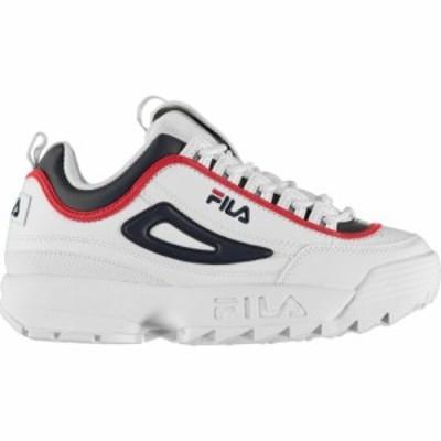 フィラ Fila メンズ スニーカー シューズ・靴 Disrupter Low Version Trainers Off White/Navy