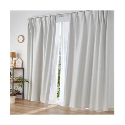 【送料無料!】深みのある杢調遮光カーテン&昼間見えにくい。UVカットレースセット カーテン&レースセット, Curtains, sheer curtains, net curtains(ニッセン、nissen)
