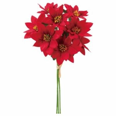 クリスマス Xmas asca ポインセチアバンチ(1束8本) 造花 フラワー