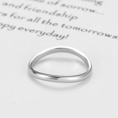 KAIYUFU Jewelers 2mm width Titanium Steel Women Ring Love u for infini