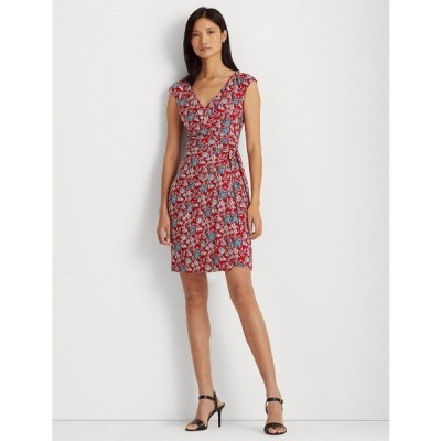 ラルフローレン ワンピース トップス レディース Petite Floral Jersey Wrap-Style Dress Red/Blue Multi