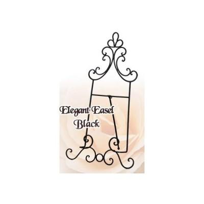 アイアンイーゼル 高さ63cm ウェルカムボード パネルスタンド アンティーク Iron Easel 四つ切サイズ可 黒ブラック かわいい